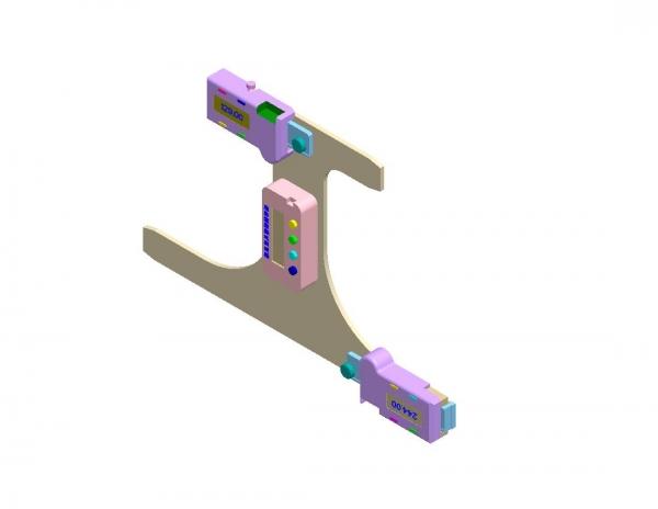 13号车钩三态数显检测样板